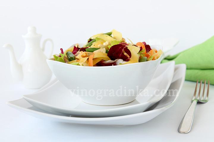 салат с манго икешью