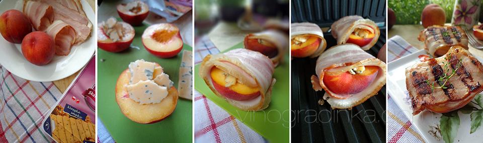 быстрая закуска из персиков