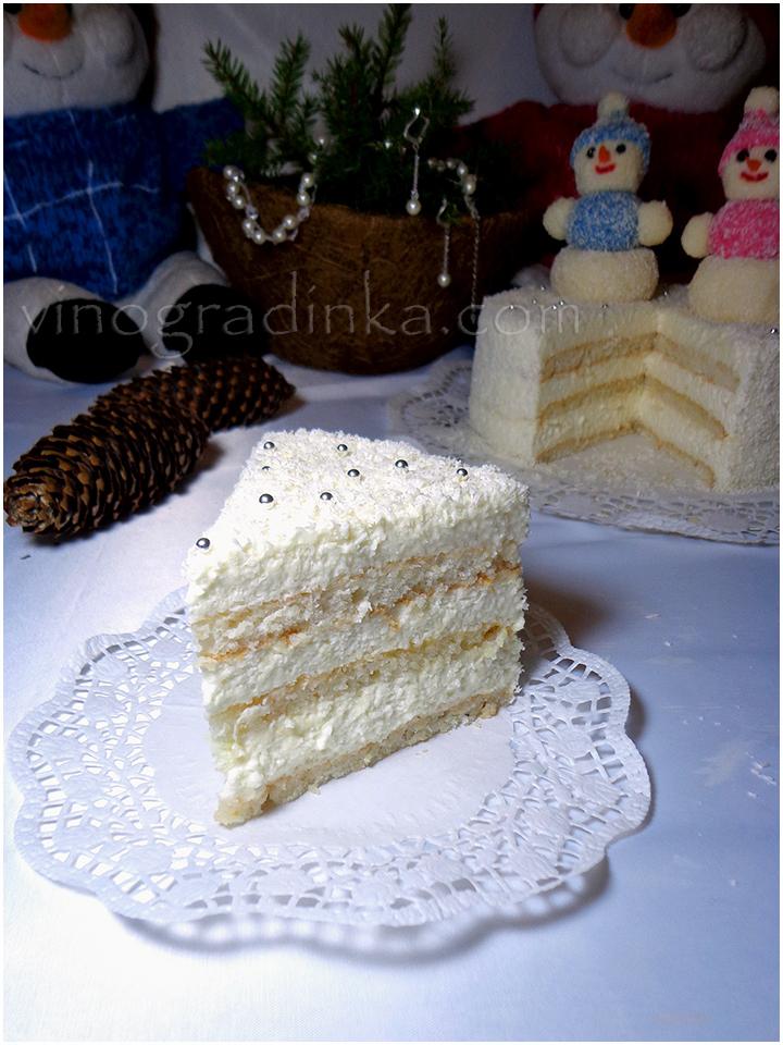 Торт новогодний разрез