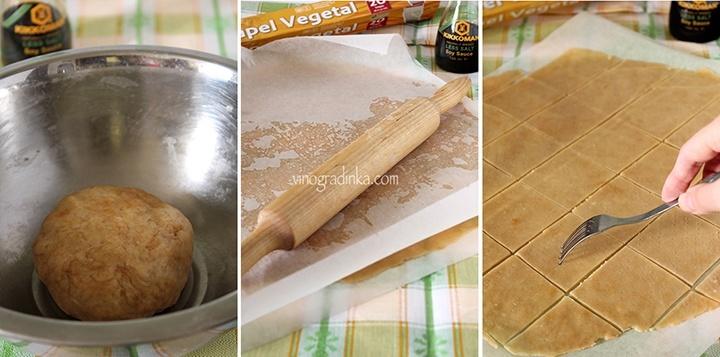 раскатать тесто и охладить