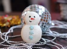 макарон снеговик