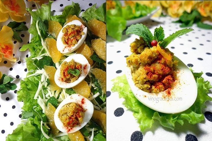оригинальный салат с яйцами