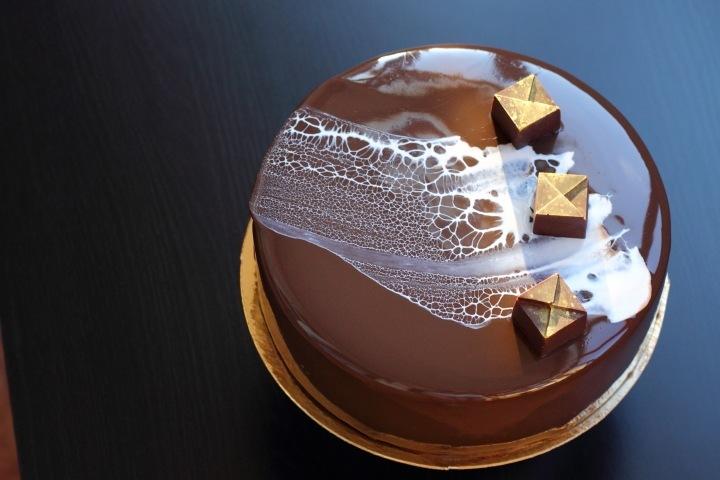 торт с зеркальной глазурью