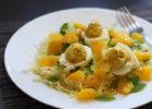 зелёный салат с яйцами