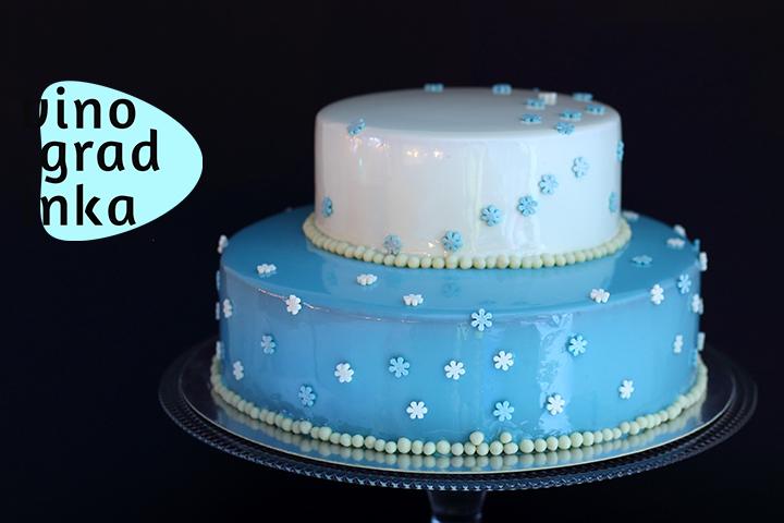 двух-ярусный муссовый торт